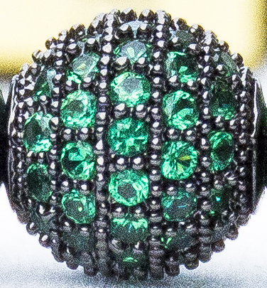 Green CZ Diamonds Close-up