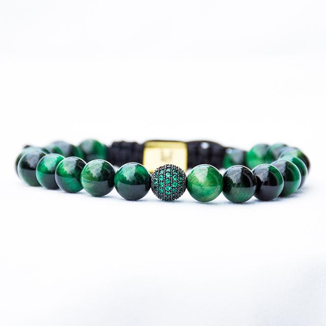 Green Tiger Eye Bracelet Front View