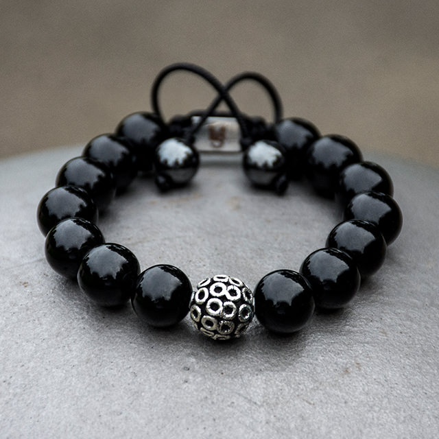 Black Onyx Amulet Bracelet