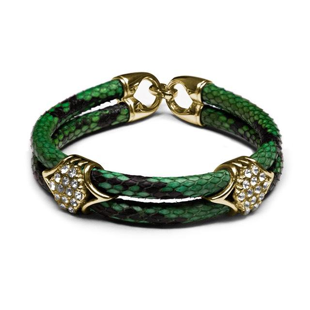 Green Python Imperio Gold Bracelet